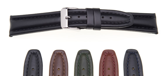 Heavy Padded Leather Watch Strap