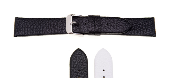 Padded Textured Leather Watch Strap