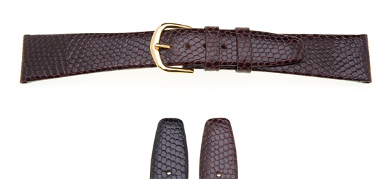 Lizard Grain Leather Watch Strap